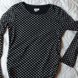 Polka dot chicos top